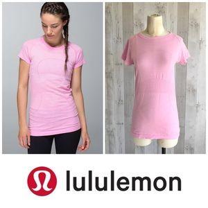 Lululemon Run: Swiftly Tech Short Sleeve pink 8